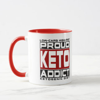 KETOGENIC DIET: Proud Keto Addict, Keto For Health Mug