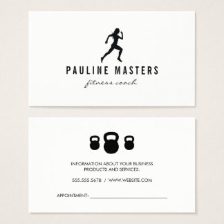 Kettle Bells Sprinter Fitness Coach Appointment Business Card