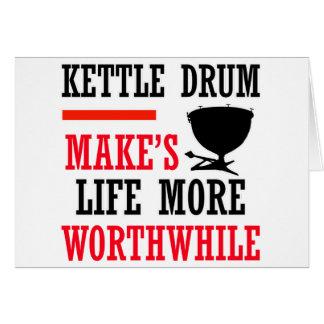 kettle drum design greeting cards