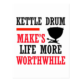 kettle drum design post card