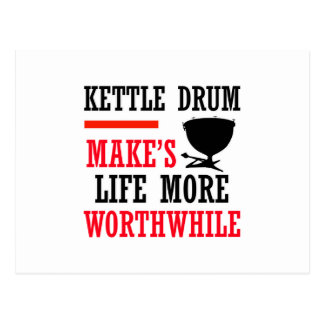 kettle drum design postcards