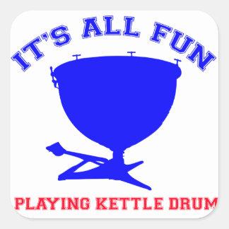 kettle drum Designs Square Sticker