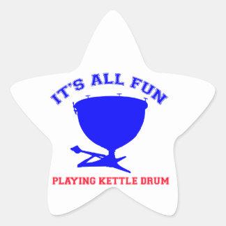 kettle drum Designs Star Sticker