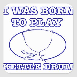 Kettle Drum Square Sticker