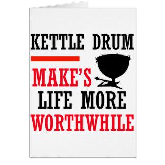 kettle drums design greeting card