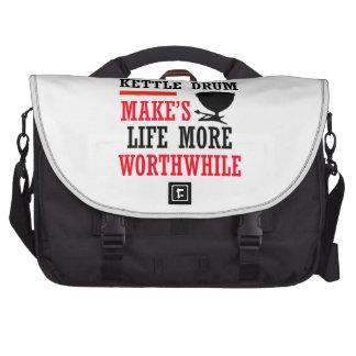kettle drums design laptop messenger bag