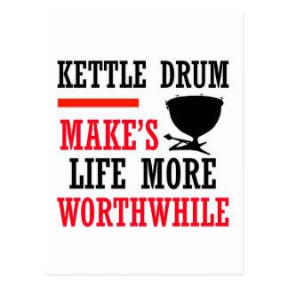 kettle drums design post card