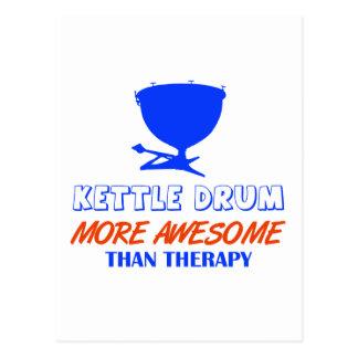kettle drums design postcard