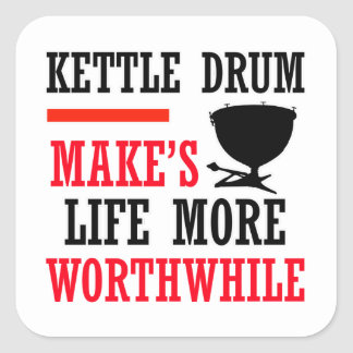 kettle drums design square sticker