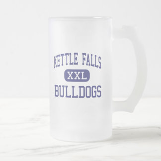 Kettle Falls Bulldogs Middle Kettle Falls 16 Oz Frosted Glass Beer Mug