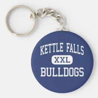 Kettle Falls Bulldogs Middle Kettle Falls Basic Round Button Keychain