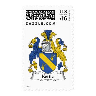 Kettle Family Crest Postage Stamp