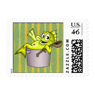 Kettle Of Fish Postage Stamps