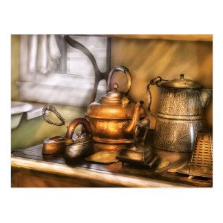 Kettle - Tea pots and Irons Postcard