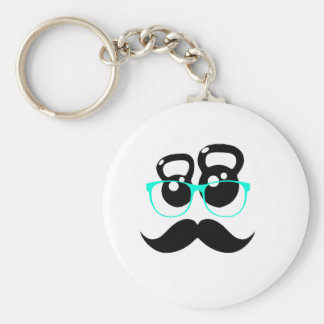 Kettlebell Disguise Blue Key Chain