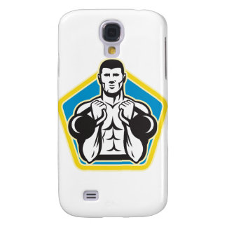 Kettlebell Exercise Weight Training Retro Galaxy S4 Cases