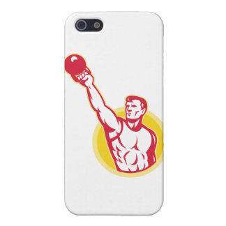 Kettlebell Exercise Weight Training Retro iPhone 5 Cases