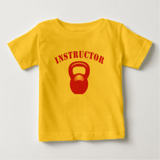 Kettlebell Instructor Red Baby T-Shirt