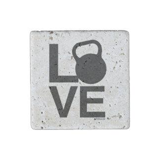 Kettlebell Love Stone Magnet