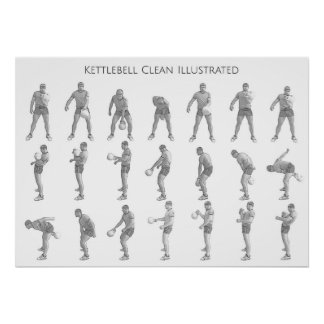 Kettlebell One Arm Clean Poster