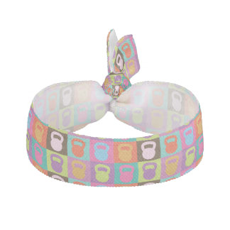 Kettlebell Pattern Ribbon Hair Tie