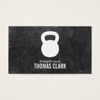 Kettlebell | Personal Trainer (slate) Business Card