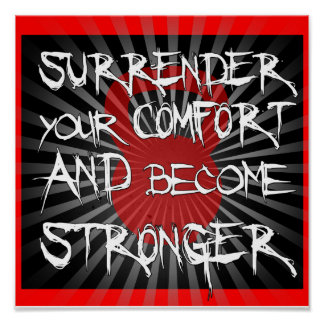 Kettlebell Surrrender & grow strong fitness print