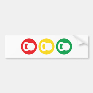 Kettlebell Traffic Light - Ready Set Go Bumper Sticker