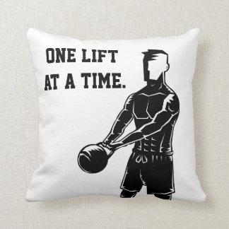 Kettlebell Weights Workout Fitness Motivational Pillow