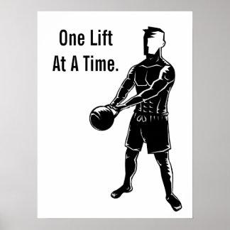 Kettlebell Weights Workout Fitness Motivational Poster