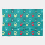 Kettlebell With A Cute Snowflake Kitchen Towels