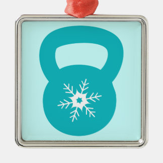 Kettlebell With A Cute Snowflake Metal Ornament