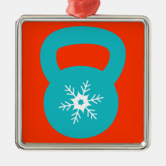 Kettlebell With A Cute Snowflake Christmas Ornament