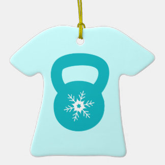 Kettlebell With A Cute Snowflake Ornaments