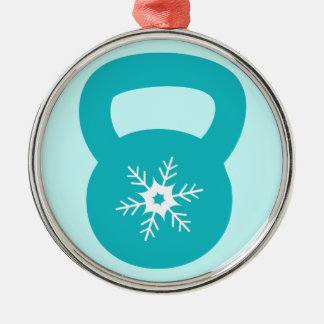 Kettlebell With A Cute Snowflake Christmas Tree Ornaments