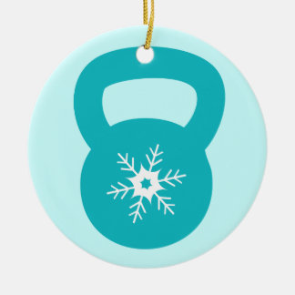 Kettlebell With A Cute Snowflake Christmas Ornaments