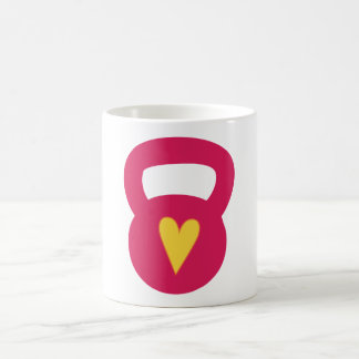 Kettlebell With A Heart Classic White Coffee Mug