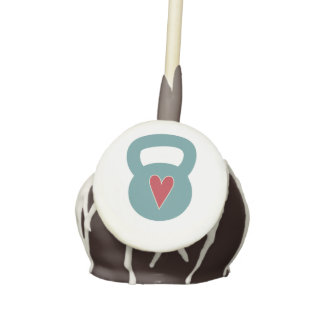 Kettlebell With A Heart - Cross training workout Cake Pops