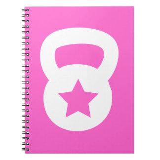 Kettlebell With An Empty Star Spiral Notebook