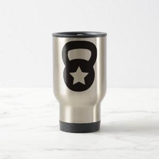 Kettlebell With An Empty Star Travel Mug