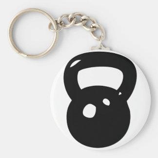 Kettlebell Workout Basic Round Button Keychain