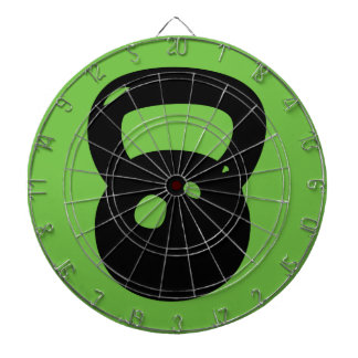 Kettlebell Workout Dartboard With Darts