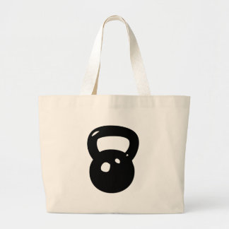 Kettlebell Workout Large Tote Bag
