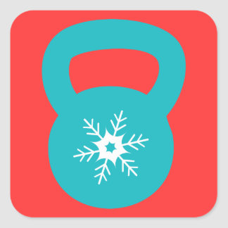Kettlebell Workout With A Snowflake Square Sticker