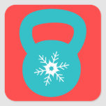Kettlebell Workout With A Snowflake Stickers