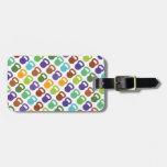 Kettlebells colorido para etiqueta de maleta