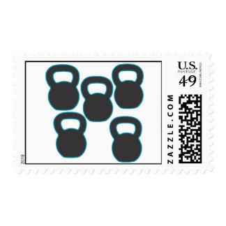 Kettlebells Postage Stamp