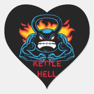 kettlehell pegatina en forma de corazón