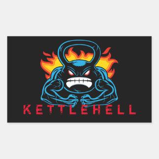 kettlehell rectangular sticker