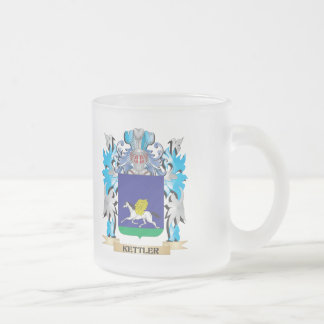 Kettler Coat of Arms - Family Crest 10 Oz Frosted Glass Coffee Mug